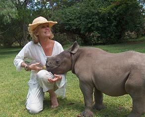 Imire Mrs Travers With Rhino