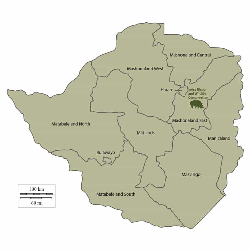 Imire Map Zimbabwe