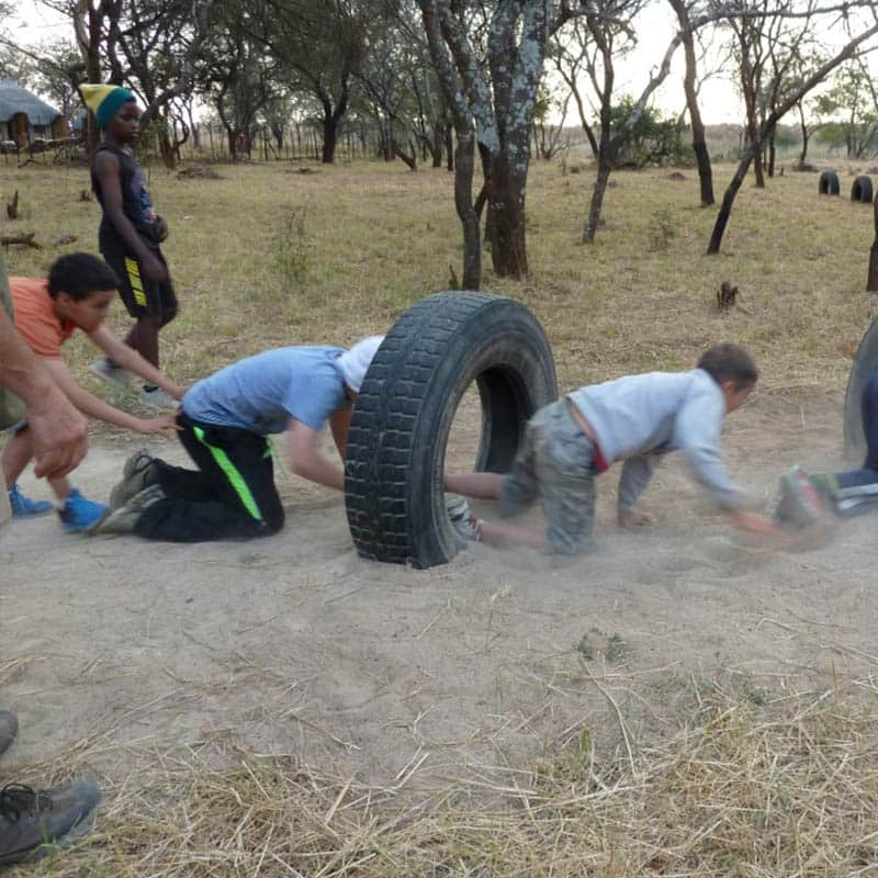 Imire Bushcamp Kids Obstacle Course